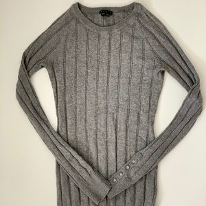 Theory Gray Long Sleeve Sweater